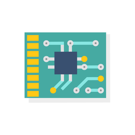 PSB vector icon in flat style. Concept of electronics development.