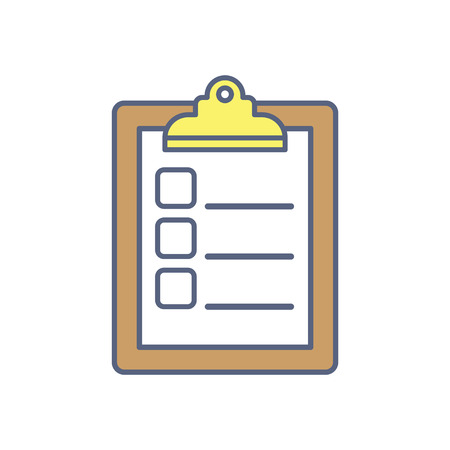 Checklist vector illustration. To do list flat isolated icon. Panning and productivity concept.