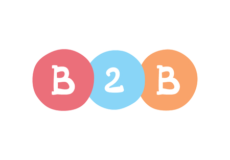 B2B concept. Business-to-business vector business acronym.