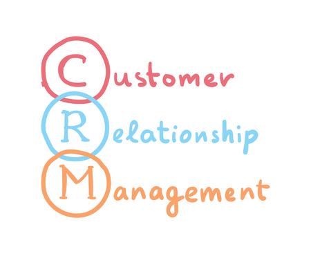 CRM concept. Customer Relationship Management vector business acronym.  イラスト・ベクター素材