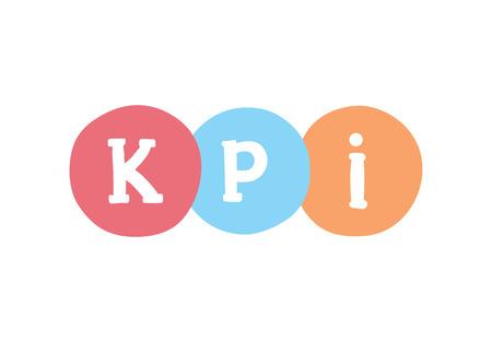 KPI marketing concept. Key Performance Indicator vector business acronym.