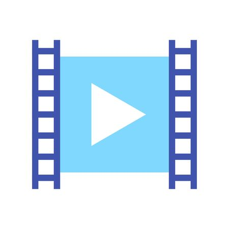 Video content vector isolated icon. Vlogging concept.