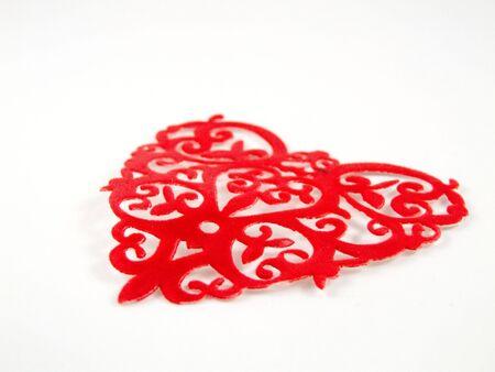 happy Valentine image with red love hart Banco de Imagens - 2296458