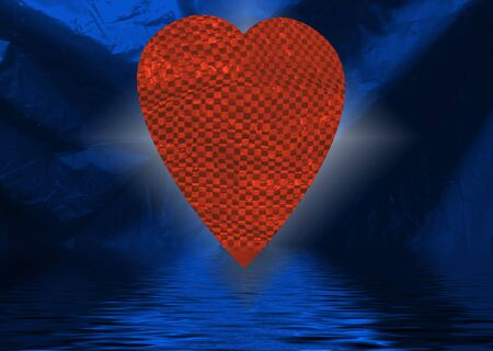 Valentine image with red love harts