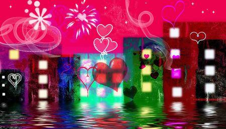 Valentine image with red love harts Banco de Imagens - 2309219