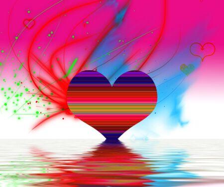 Valentine image with red love harts Banco de Imagens - 2324065