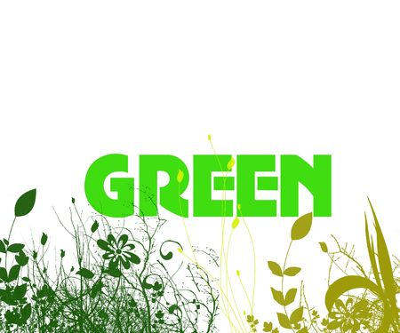 Green conceptual background wall paper design,