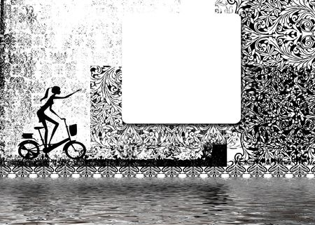 cycling in black and white Stock Photo - 2665216
