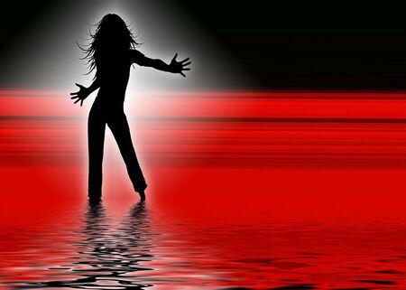 set in a night club dancing girls Banco de Imagens - 3765927