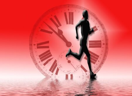 Running alond water edge Banco de Imagens