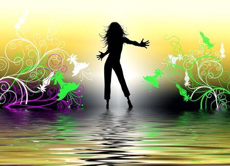set in a night club dancing girls Banco de Imagens - 4162214