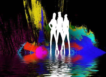 set in a night club dancing girls Banco de Imagens - 4162228