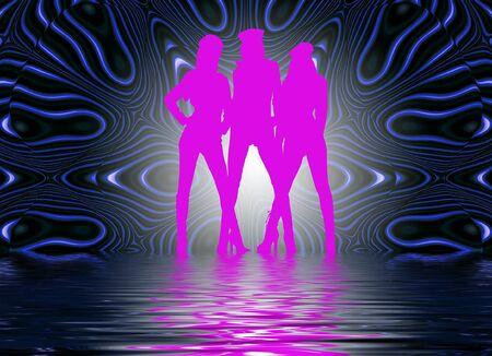 set in a night club dancing girls Banco de Imagens - 4162241