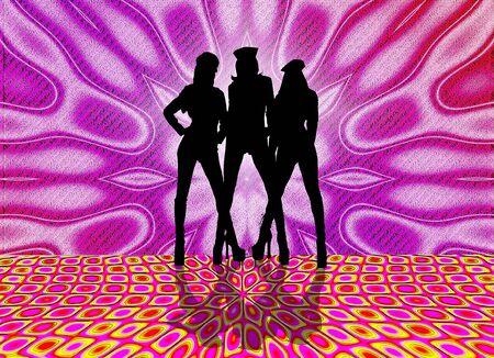 set in a night club dancing girls Banco de Imagens - 4181203