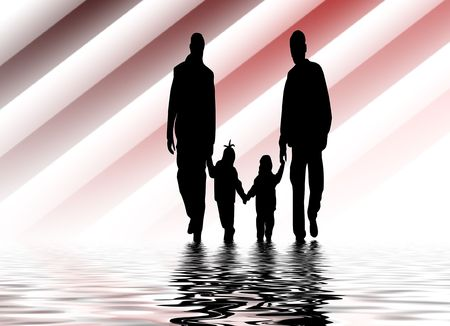 family holding hands photo
