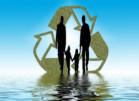 family holding hands Banco de Imagens - 4229433