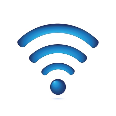 wireless network: Azul s�mbolo de red inal�mbrica