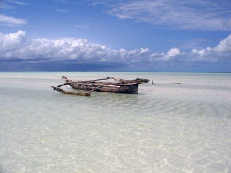 Dhow in Indian Ocean  photo