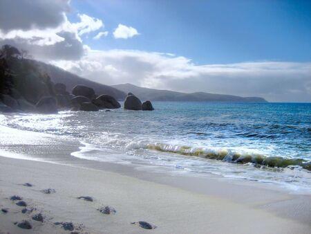 wilsons promontory: Footprints in the Sand (Australian Beach)