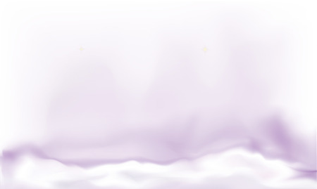 Abstract vector background, violet dense fog or smog, white clouds with a purple mystical glow Illustration