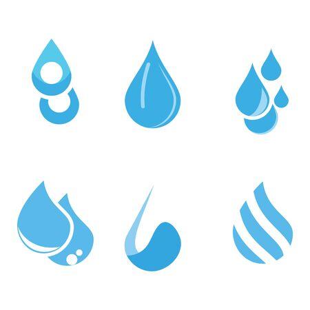 Set Water drop Template vector illustration design