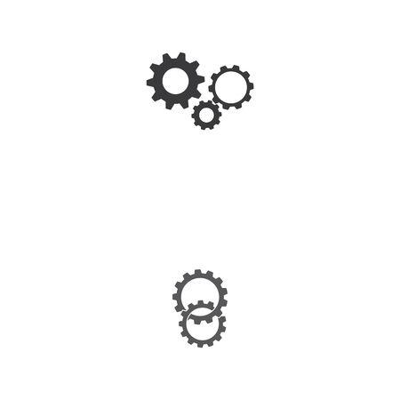 gear icon logo vector icon illustration Illusztráció