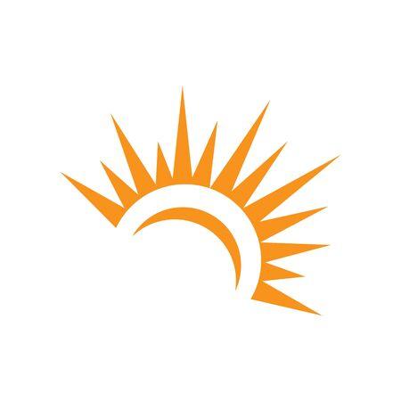 Progettazione dell'icona Logo Template dell'illustrazione di vettore di Sun.