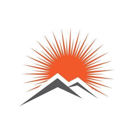 Sun Vector illustration Icon Logo Template design Ilustracja