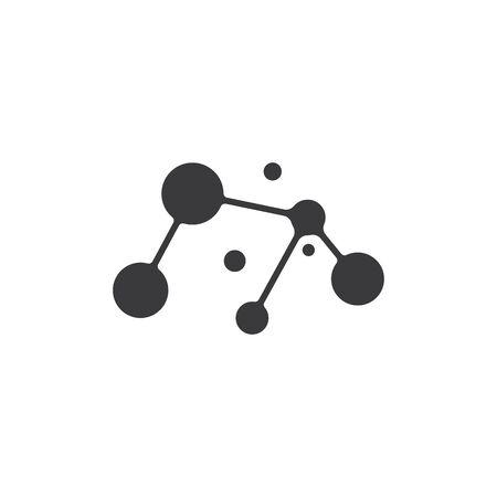 Molecule symbol logo template vector illustration design Illustration
