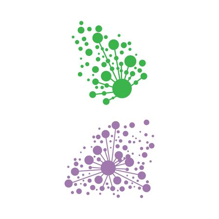 Dandelion Flower Wave Logo Template vector symbol nature