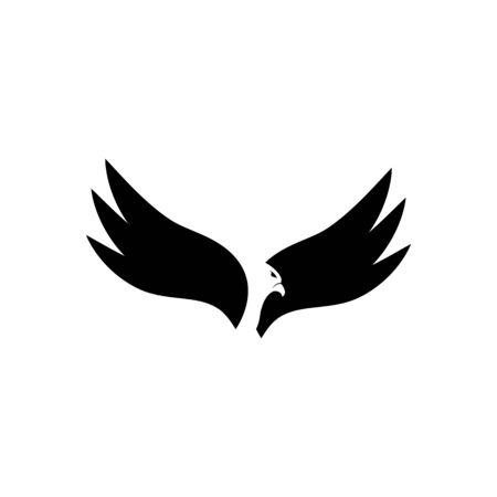 Falcon Logo Template vector illustration design Archivio Fotografico - 134963196
