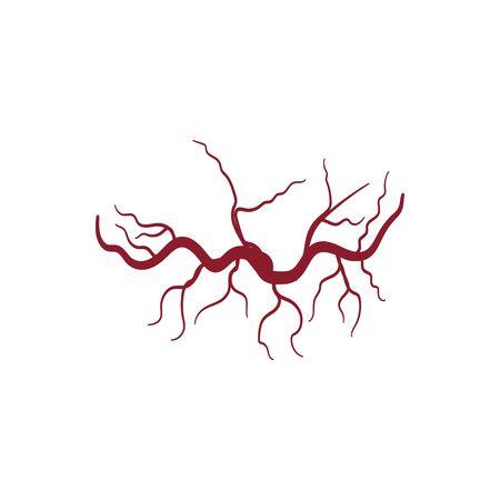 Veins icon Vector Illustration design Logo template
