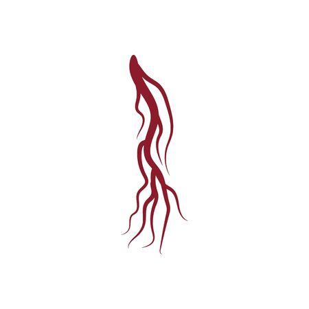 Icona di vene Modello di logo di illustrazione vettoriale di design Logo