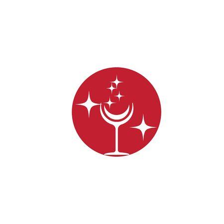 Wine Logo Template vector symbol nature Banque d'images - 137865640