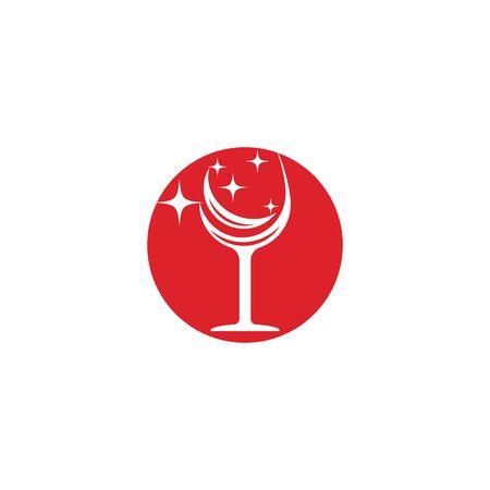 Wine Logo Template vector symbol nature Banque d'images - 137865642