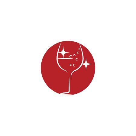 Wine Logo Template vector symbol nature Banque d'images - 137865643