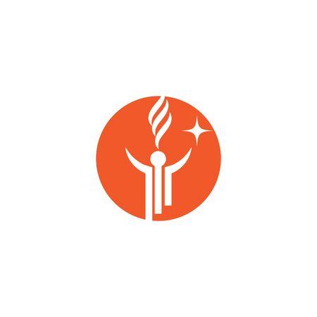 Torch  Logo Template vector symbol nature Ilustração