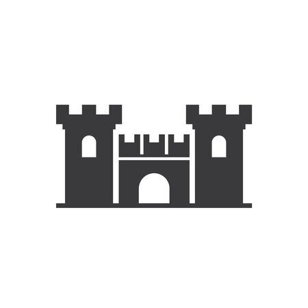 Château Logo Template vecteur nature symbole Logo