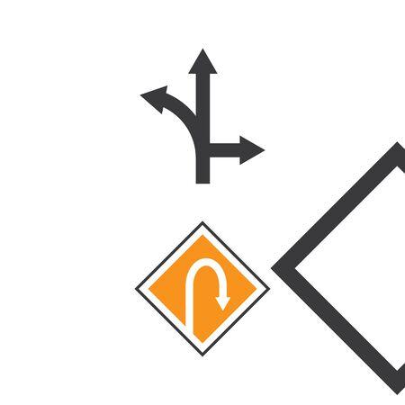 Arrow sign Logo Template vector symbol nature Ilustração