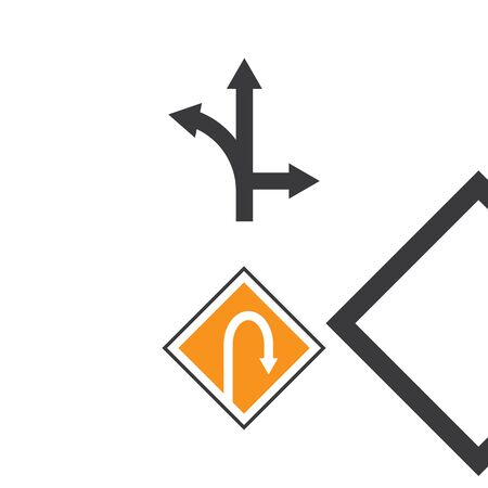 Arrow sign Logo Template vector symbol nature Illustration