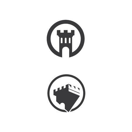 Castle Logo Template vector symbol nature Logo