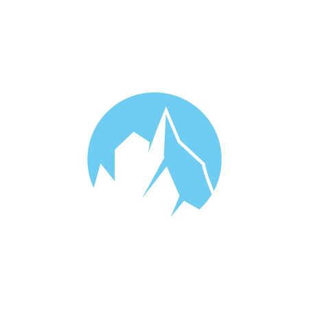 Ice berg Logo Template vector symbol nature