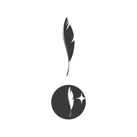 Feathers Logo Template vector symbol nature Çizim