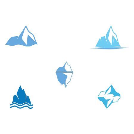 Set Ice berg Logo Template vector symbol nature ЛОГОТИПЫ