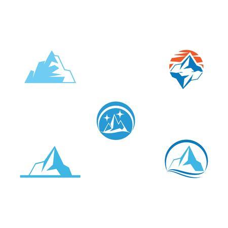 Set Ice berg Logo Template vector symbol nature