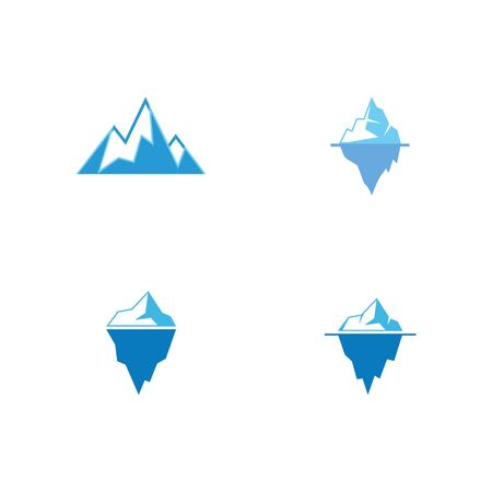 Set  Ice berg Logo Template vector symbol nature