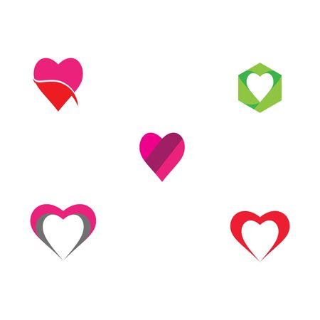 Set Beauty Love Vector icon illustration design Template