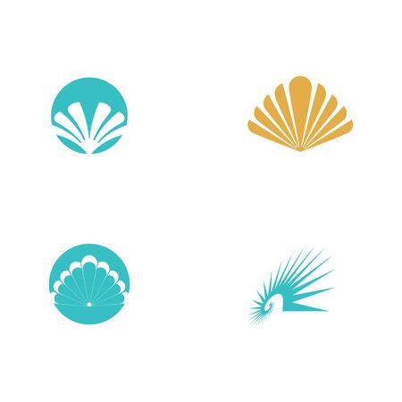 Set Shell Logo Template vector symbol nature