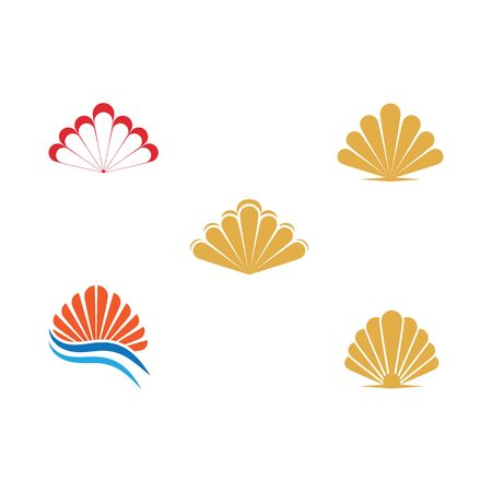 Set Shell Logo Template vector symbol nature