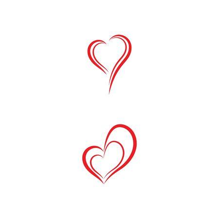 Plantilla de diseño de ilustración de icono de Vector de amor de belleza Ilustración de vector